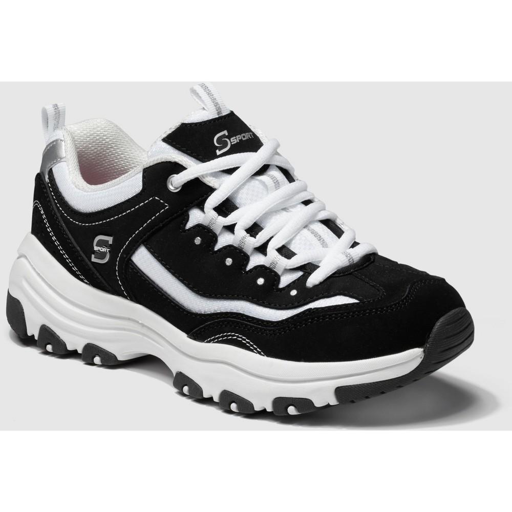 Women's S Sport By Skechers Gabie Lace Up Training Sneakers - Black 7, White Black