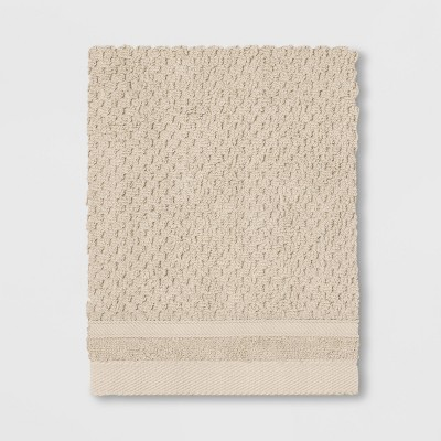 Performance Texture Washcloth Bare Canvas Tan - Threshold™