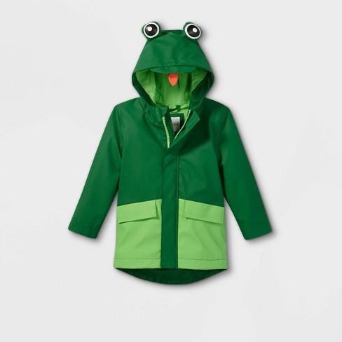 Toddler Boys' Frog Rain Jacket - Cat & Jack™ Green - image 1 of 2