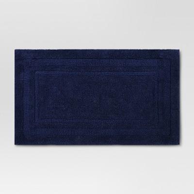 Solid Bath Mat Xavier Navy - Threshold™