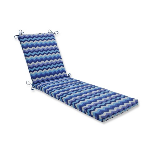 Indoor Outdoor Panama Wave Azure Blue Chaise Lounge Cushion Pillow Perfect Target