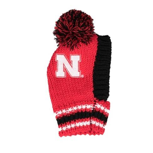 b5f3efc786f440 Nebraska Cornhuskers Little Earth Pet Knit Football Hat - S : Target