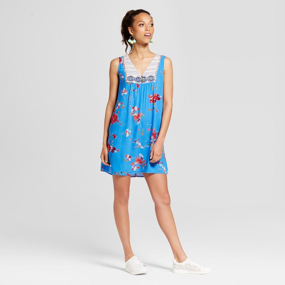 Women's Embroidered Shift Dress - Xhilaration (Juniors') Blue XL
