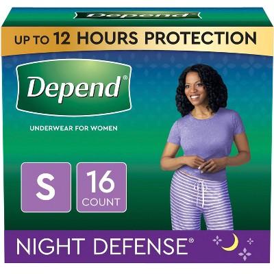 Depend Women's Night Defense Incontinence Underwear - Small