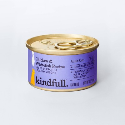Chicken and Whitefish Recipe for Healthy Weight Wet Cat Food - 3oz - Kindfull™