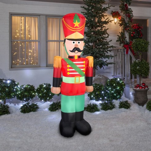 holiday inflatable decoration toy soldier with mustache target