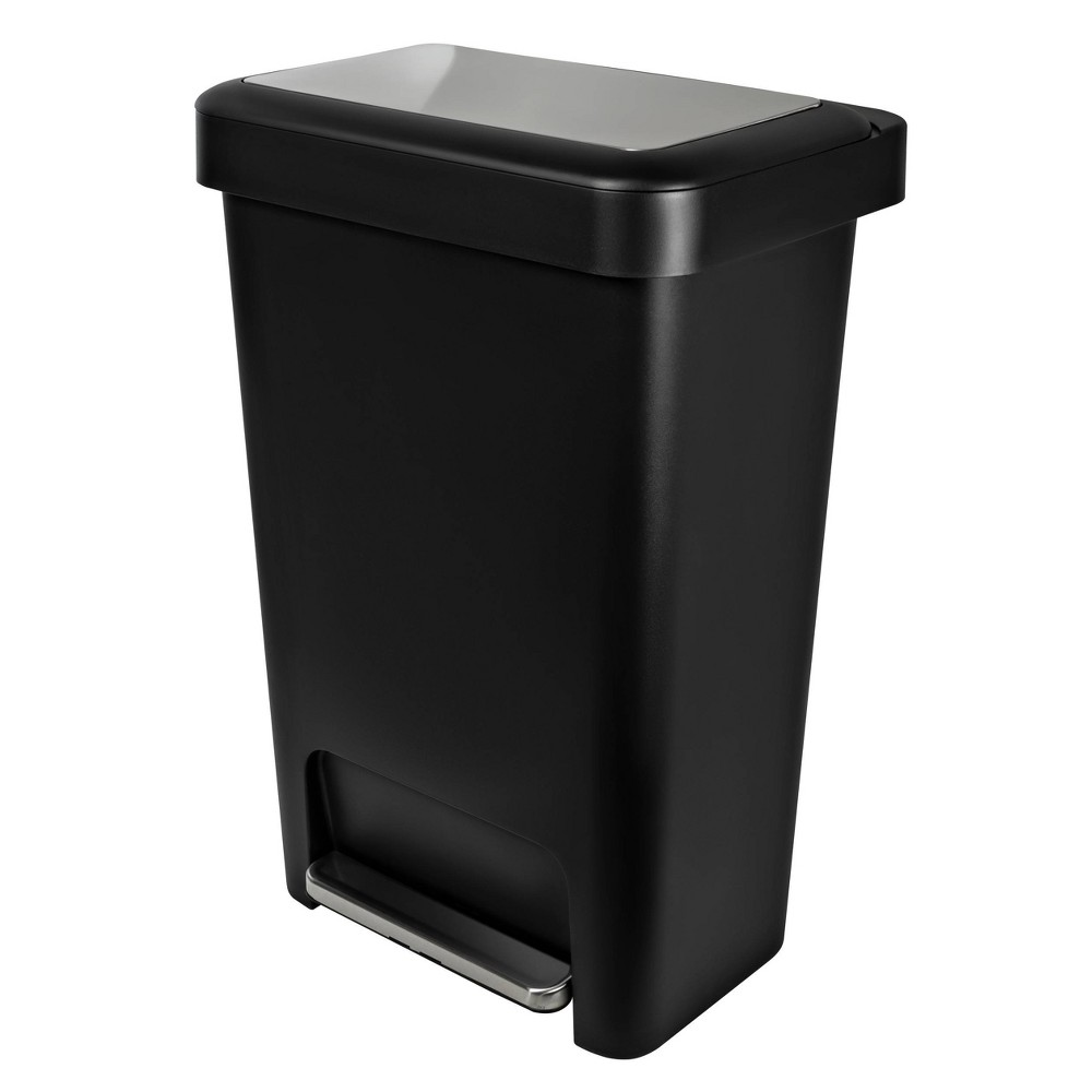Image of Hefty 12.4 Gallon Premium Step Trash Can - Black