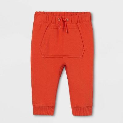 Baby Knit Jogger Pants - Cat & Jack™ Orange Newborn