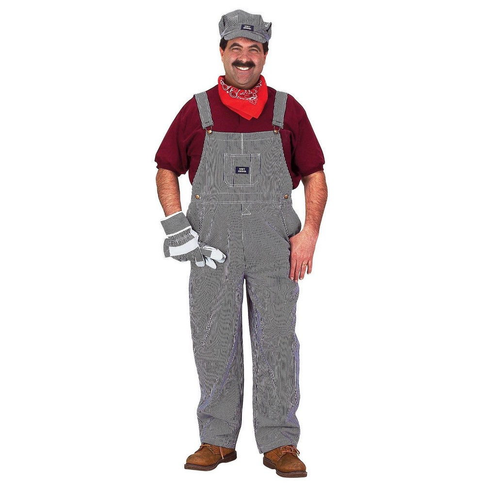 Image of Adult Train Engineer Halloween Costume L, Men's, Multi-Colored