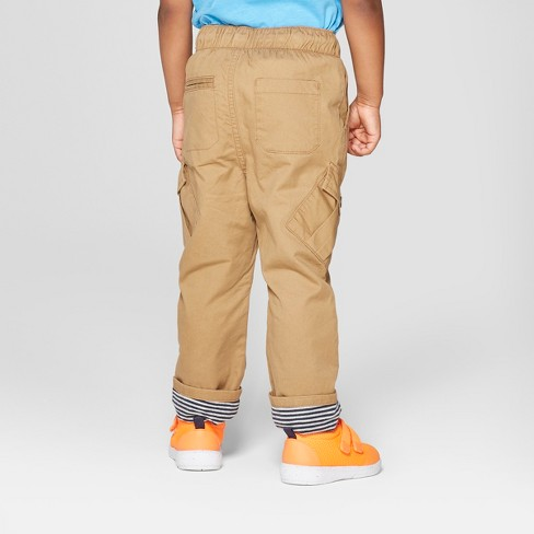 810b6da81f Toddler Boys' Tapered Fit Cargo Pockets Pull On Pants - Cat & Jack™ Brown