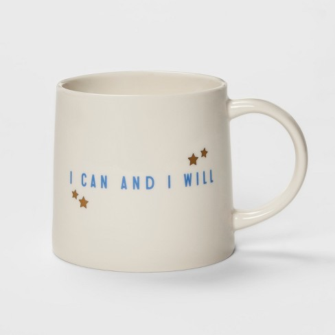 15oz Porcelain I Can and I Will Mug Cream - Threshold™ - image 1 of 1