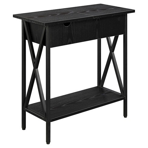 Tucson Electric Flip Top Table - Black - Convenience Concepts - image 1 of 4