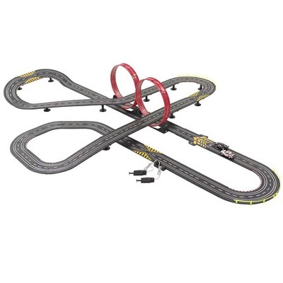 HearthSong 34'L Super Loop Speedway Customizable Race Car Track with Two Race Cars