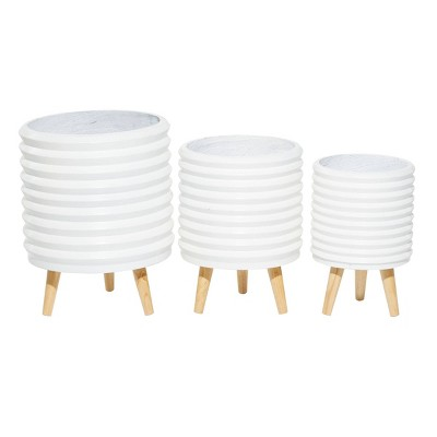 Set of 3 Wood Planters - CosmoLiving by Cosmopolitan