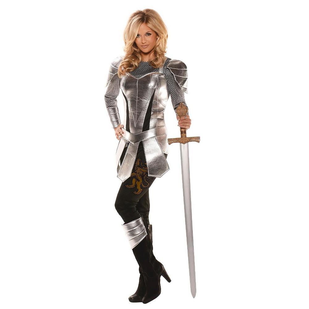 Women's Knight Costume - Medium, Silver