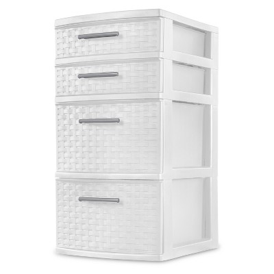 4 Drawer Storage Tower White - Sterilite