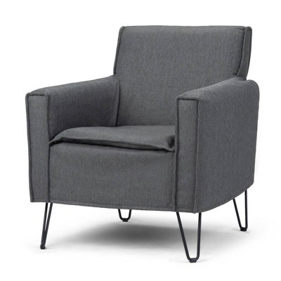 """28"""" Edward Accent Chair with Hairpin Legs - Wyndenhall"""