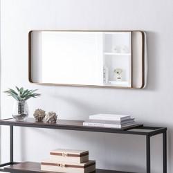 "60"" Eshire Decorative Leaning Mirror Gold - Aiden Lane"