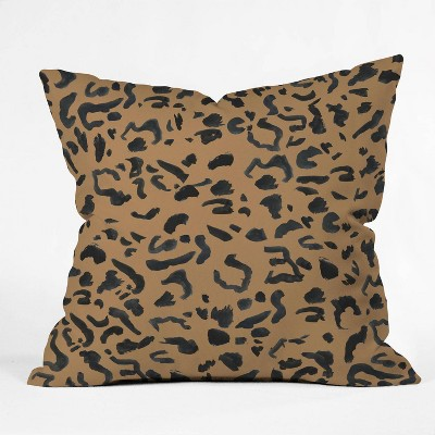 "16""x16"" Leeana Benson Cheetah Print Throw Pillow Brown - Deny Designs"