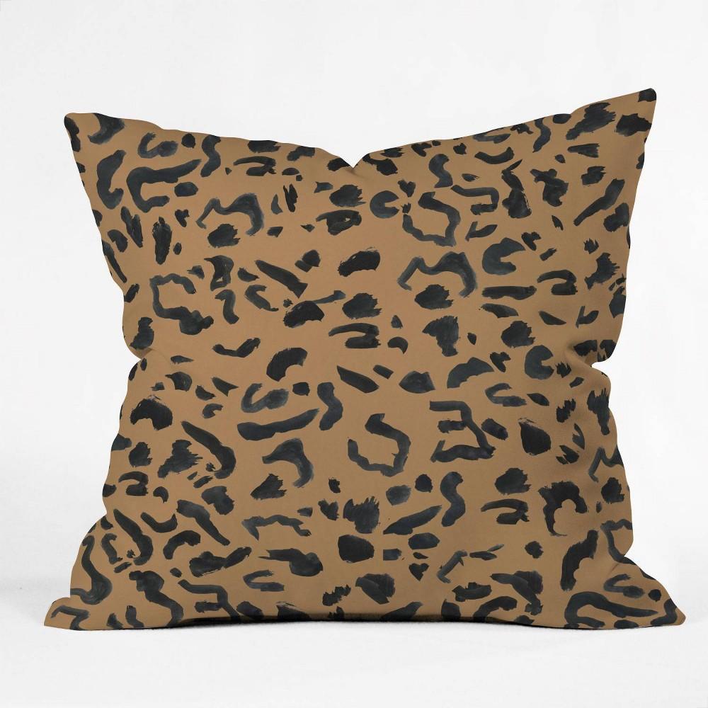 16 34 X16 34 Leeana Benson Cheetah Print Throw Pillow Brown Deny Designs