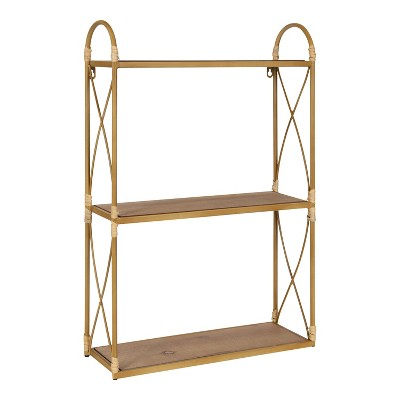 """18"""" x 28"""" Abella Tiered Decorative Wall Shelf Natural - Kate & Laurel All Things Decor"""