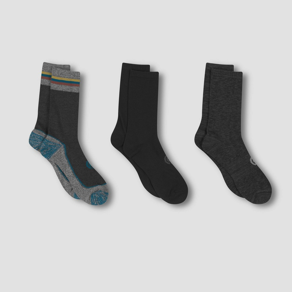 Image of Men's Outdoor Lightweight Crew Socks 3pk - C9 Champion 6-12, Size: Small, MultiColored