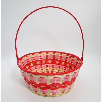 "15"" Bamboo Easter Basket Warm Colorway Red Center - Spritz™"