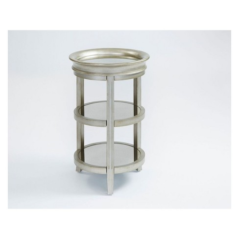 Rachel Chairside Table Silver - Progressive Furniture - image 1 of 1