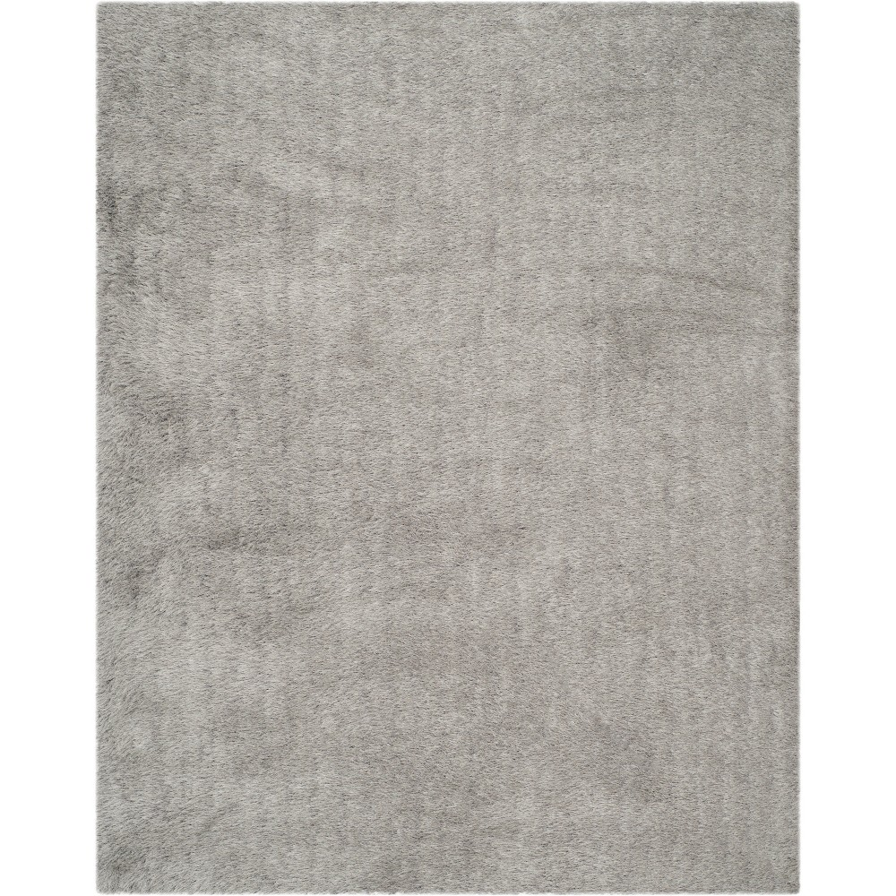 8'6X12' Solid Tufted Area Rug Light Gray - Safavieh