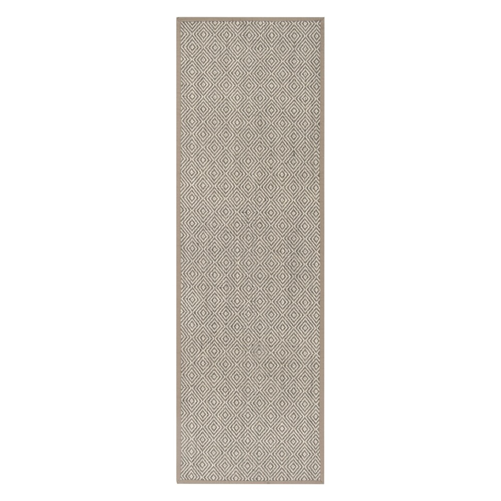 2'6X8' Geometric Loomed Runner Natural/Taupe (Natural/Brown) - Safavieh