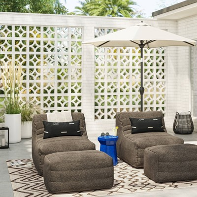 Bowman Sloped Quilted Patio Chair & Ottoman Seating Set - Project 62™