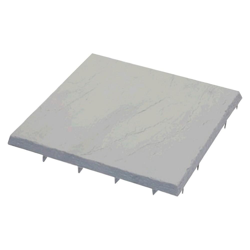 Emsco FlatRock 16x16 Paver/Stepping Stone - Slate Gray, Brown