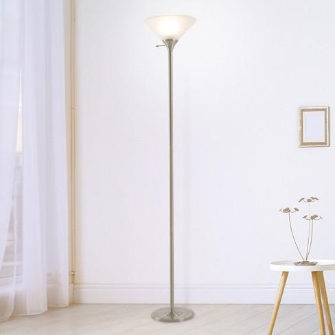 Handpainted Floral Moroccan Pattern LED Uplight Floor lamp Bronze (Includes Energy Efficient Light Bulb) - Lavish Home - image 1 of 4