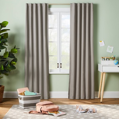 """84"""" Blackout Twill Solid Panel Gray - Pillowfort™"""