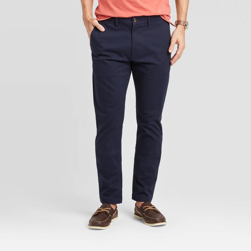 Men 39 S Slim Fit Hennepin Chino Pants Goodfellow 38 Co 8482 Blue 40x32