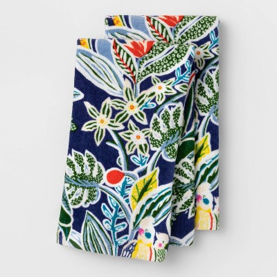 2pk Terry Hand Towels Cabana Bird - Opalhouse™
