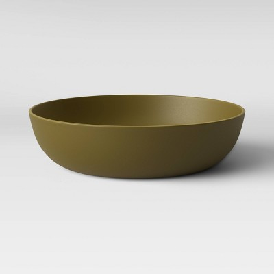 33oz Plastic Dinner Bowl Dark Green - Room Essentials™