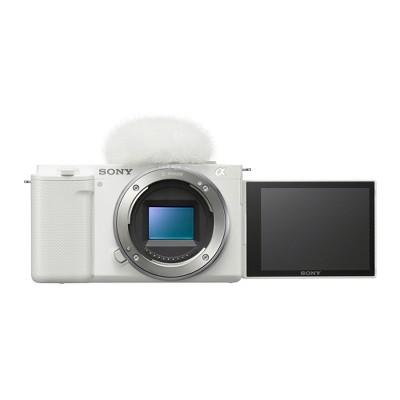 Sony Alpha ZV-E10 APS-C Interchangeable Lens Mirrorless Vlog Camera Body (White)