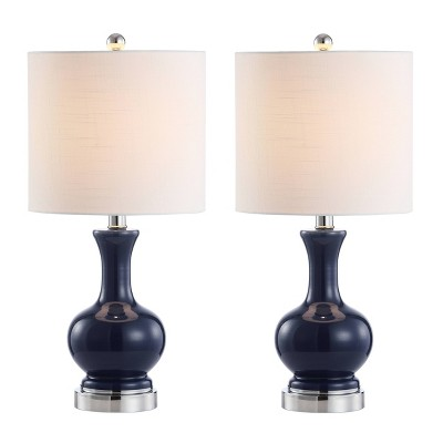 "22"" (Set of 2) Cox Glass/Metal Table Lamp (Includes Energy Efficient Light Bulb) - JONATHAN Y"