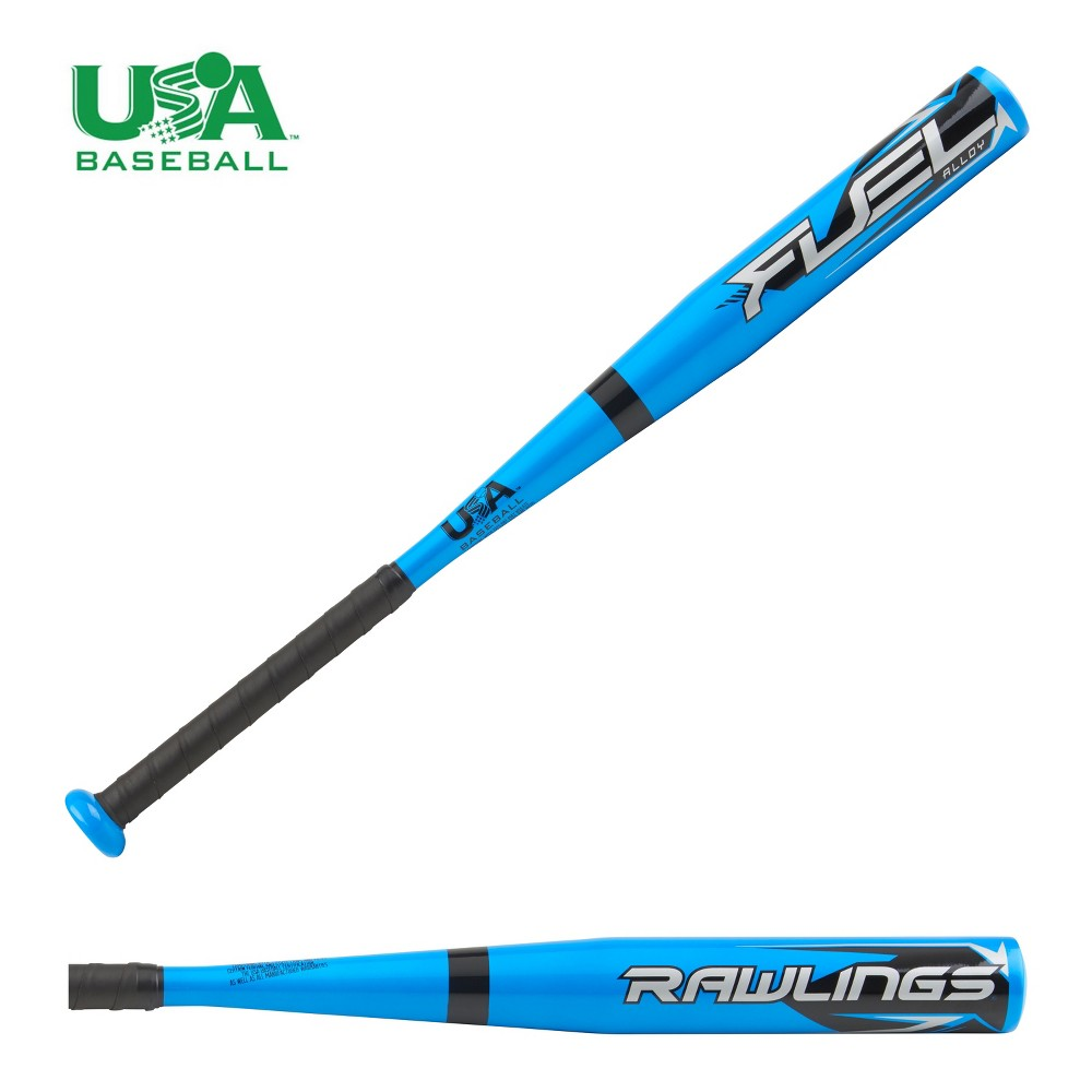 Rawlings Fuel 27 Baseball Bat 2018 (-8), Blue