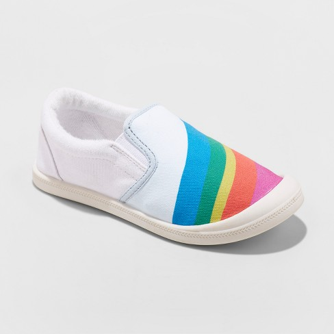 Girls' Mad Love Shayna Rainbow Printed Sneakers - image 1 of 7