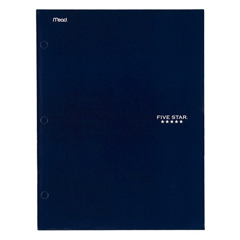 Mead Five Star® Laminated Paper Folder Class Pack, 4 Pocket - Navy Blue (20 ct) - image 1 of 1