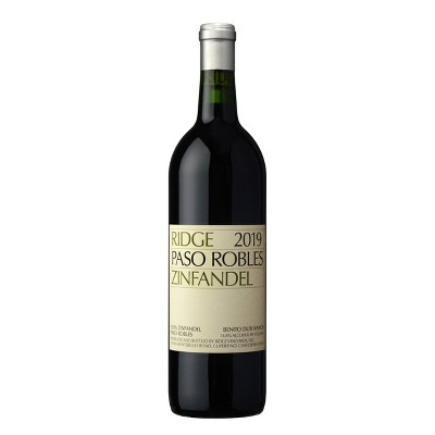 Paso Robles Zinfandel Red Wine - 750ml Bottle