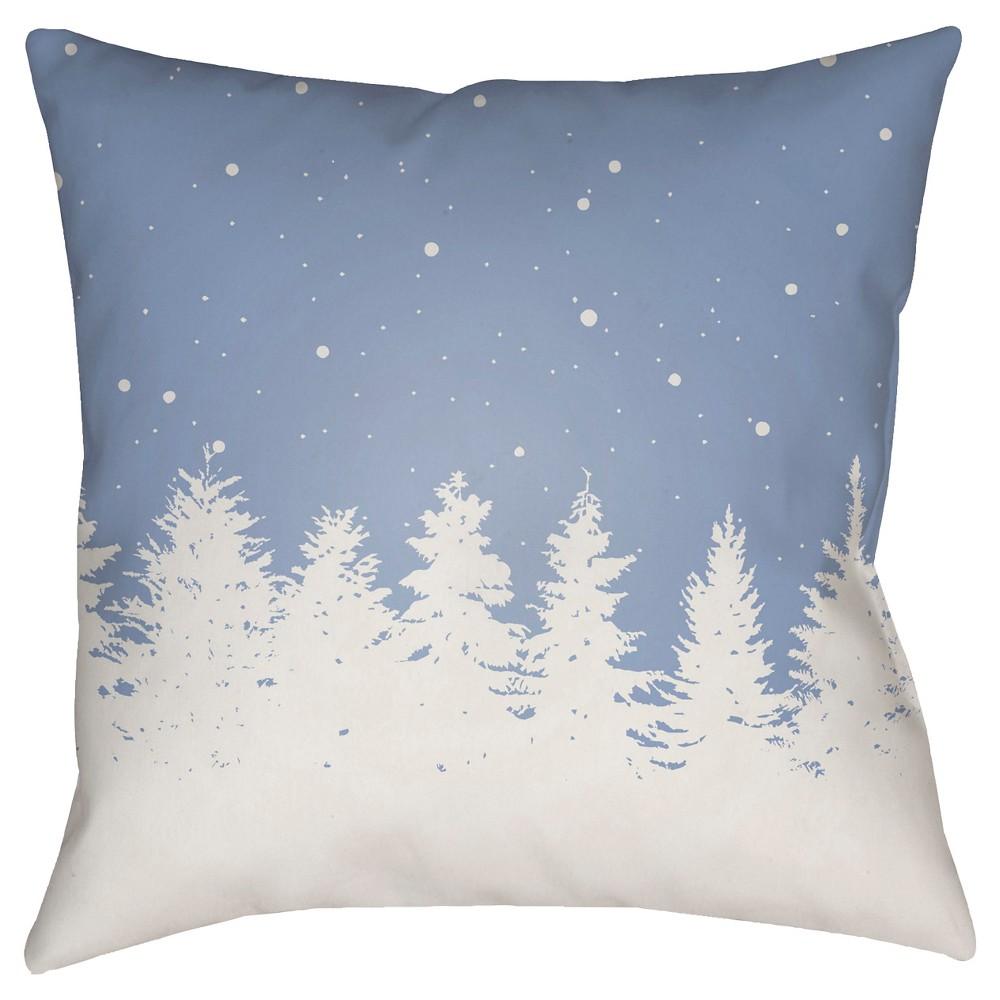 Blue Winter Retreat Throw Pillow 20