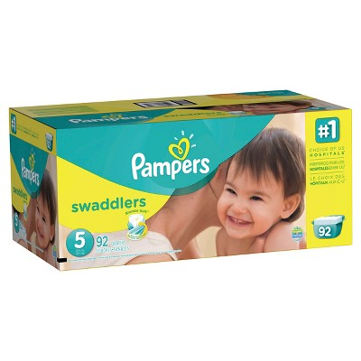 Pampers Swaddlers Diapers, Giant Pack - Size 5 (92 ct)