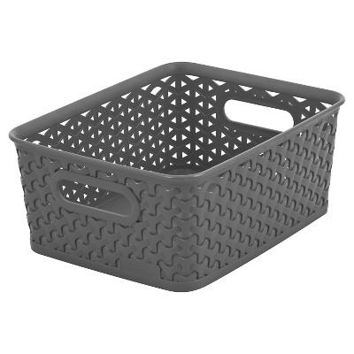 Y-Weave Small Storage Bin Gray 4 x7  - Room Essentials™