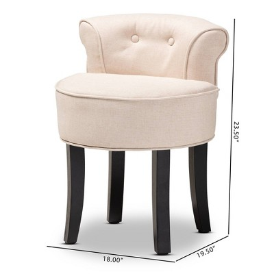 Cerise Small Accent Chair Beige - Baxton Studio : Target
