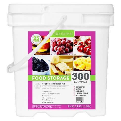 Lindon Farms Emergency Food 300-Serving Freeze Dried Tropical Fruit Variety Food Storage Pail - image 1 of 2
