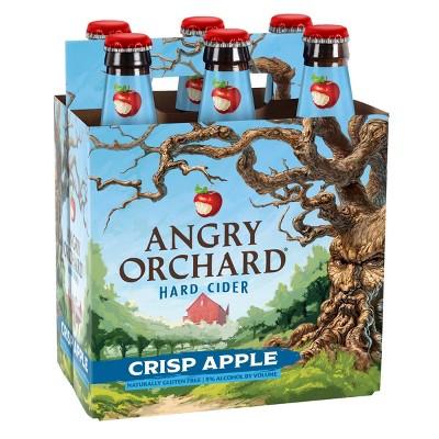 Angry Orchard Crisp Apple Hard Cider - 6pk/12 fl oz Bottles