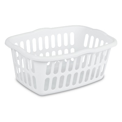 Sterilite® 1.5 Bu. Medium Rectangular Laundry Basket - White